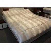 Quality Luxury down duvets with silk cotton blended cover and high filling power down stuffing for sale