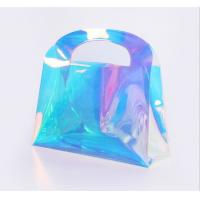 Buy custom fashionable holographic PVC cosmetic bag at wholesale prices