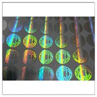 Quality Custom printed round hologram sticker label,  anti tamper security waterproof custom hologram label for sale