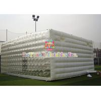White Waterproof Inflatable Cube Tent , Transparent Tent Inflatable Marquee