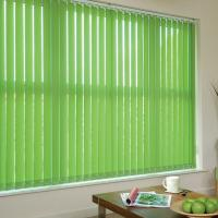 Quality 127mm 100% polyester fabric vertical blinds for windows with low aluminum headrail for sale