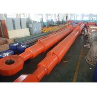 Quality Custom Deep Hole Single Acting Hydraulic Cylinder For Hydropower Dump Truck for sale
