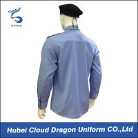 Quality Custom Blue Security Shirt  With Comfortable 100% Cotton / Mens Long Sleeve Shirts for sale