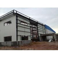 Light Type Steel Structure Warehouse , Customized Prefab Metal Buildings