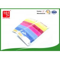 Quality Hook and Loop Cable Tie Custom With Supermarket Package , Reusable cable ties Candy Color for sale