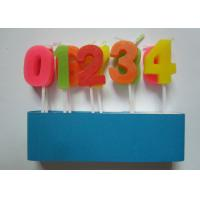 Colorful Arabic Number Birthday Candles From 0 To 9 No Harmful 2.09G / Set