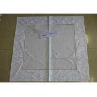 Beige Color Linen Like Tablecloths Square Shaped With ISO9001 Certificated