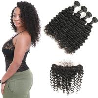 Quality No Shedding Genuine Virgin Brazilian Hair Extensions Kinky Curl 8 To 28 Inches for sale