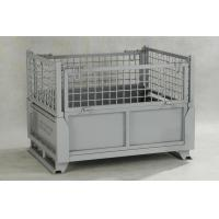 Quality IBC Metal Cage Warehouse Metal Storage Bins With Gray Painted Foldable Metal Cage for sale