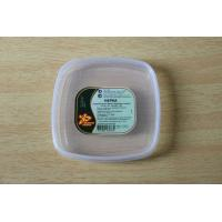 China Food box / container Square plastic PE lids with custom printing sticker / tag on sale