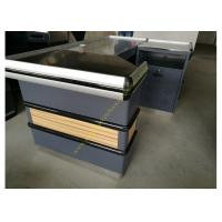 Buy 6 Feet Long Supermarket Checkout Counter , Wood And Steel Clothing Shop Cashier at wholesale prices