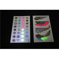 China Waterproof hot sale temporary tattoo, shiny wings black light tattoos, UV tattoos on sale