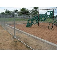 Temporary chain link fence installed for perimeter protection of the recess park.