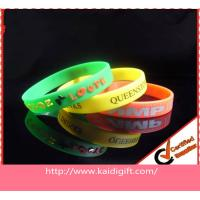 Quality Printing Sports Silicone Bracelets Non-toxic for sale