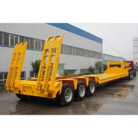 Quality Low Bed 4 Axle Heavy Duty Lowboy Truck Trailer / Container Diesel Semi Tractor for sale