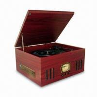 Quality Nostalgia Wooden Music Center with Turntable, AM/FM Radio, Side CD/MP3 Player, Slot-in Type Cassette for sale