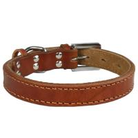 Quality Genuine leather Dog collar 5 color Round GCDC-025 for sale