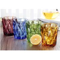 Quality Lemon Tea Solid Glass Products 300ml Colorful Drinking Cup Machine Made OEM for sale