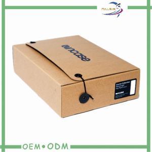 Spot UV Logo Packaging Corrugated Paper Box With Eyelet , corrugated fiberboard box