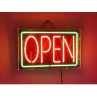 Quality Illuminated Bright LED Open Sign Double Sided Indoor Window Display Green Red for sale