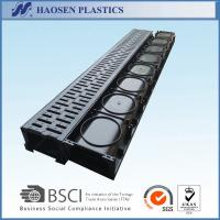 China Plastic building materials lightweight plastic black drain channel 1000x125x80mm for park,garden use on sale