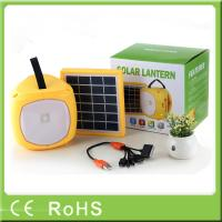 China Wholesale handheld led rechargeable with fm radio solar power energy light on sale