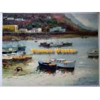 Quality Impression boat paintings / Handmade oil painting makers for sale