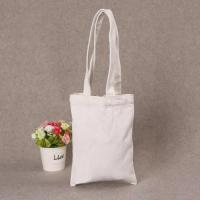 Quality Printed Shopping Cotton Canvas Bag , Custom Logo White Cotton Tote Bag for sale
