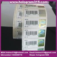 Quality Bar code with serial number hologram for sale