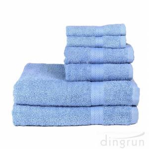 China 100% Cotton 6 Piece Absorbent Towel Set Bath Towel Hand Towel Wash Towel on sale