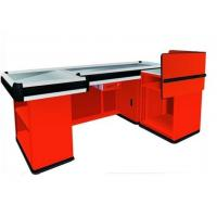 Quality Supermarket Checkout Counters With Transport Tape , Custom Stainless Steel Countertops for sale