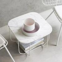 Buy cheap White Simple Marble round square dining table tops for Hospitality furniture from wholesalers