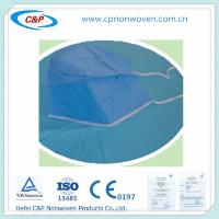 Quality Disposable Nonwoven Surgical Cap, Surgeon caps with tie for sale
