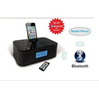 China dual alarm clock radio stereo bluetooth speaker with iphone dock station on sale