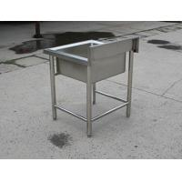 Quality Kitchen Equipment Stainless Steel Display Racks Commercial Single Sink for sale