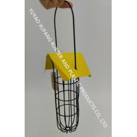 Quality Yellow Roof 3 Fat Ball Bird Feeder Stainless Steel Handle For Garden for sale