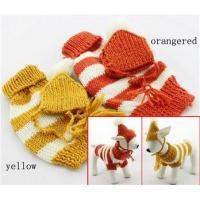 Buy Cute doggie apparel Stripe dog sweater knitting pattern for small dog at wholesale prices