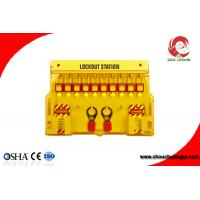 Quality Industrial Combination Loto Safety Lockout Station with 10 padlocks Plastic PP Material for sale