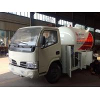 Quality hot sale dongfeng 95HP 5500 liters lpg dispenser truck, CLW 95hp lpg gas dispensing truck for sale
