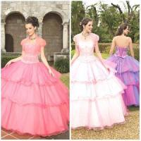 Quality 2012 New Lovely Sweetheart A-Line Sheath Jacket Paillette Beaded Ruffle Tulle Quinceanera Dresses (QD-023) for sale