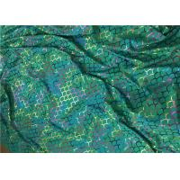 Foil Hologram Double Knitted Printed Nylon Fabric For Leotard Garments