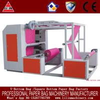China Plastic film 2 color flexographic printing machines with ceramic anilox roller and closed doctor blade system on sale
