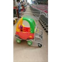 Quality Cartoon Kids Supermarket Shopping Trolley With Toy Car And Baby Seat for sale