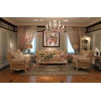 Quality Luxury French-type Sofa set made by Wooden Carving Frame with Fabric Upholstery for sale