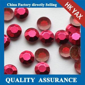 Quality Red Siam hotfix octagon rhinestuds,octagon rhinestuds hotfix,rhinestuds octagon hotfix for sale