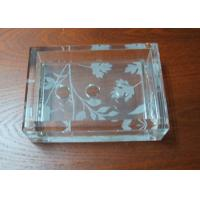Quality 140 mm Simple Plexiglass Transparent Acrylic Soap Dish With Flower Pattern for sale