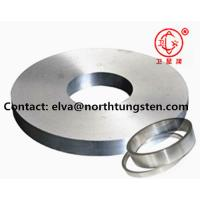 China tungsten alloy ring circle sintering blank round nickel iron weight 92%W counterweight groove on sale