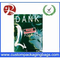 Buy cheap High Potent Herbal Incense Plastic Ziplock Bags with Customized Printing from wholesalers