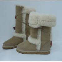 Quality 35-44 women snow boots, Australia sheepskin fur boots, Sand color, direct factory cost, handmade, competive price for sale