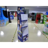 Quality Portable Corrugated Cardboard Floor Display Stand Eco-friendly Purple for sale